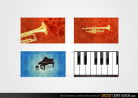Music Business Card Vector Set