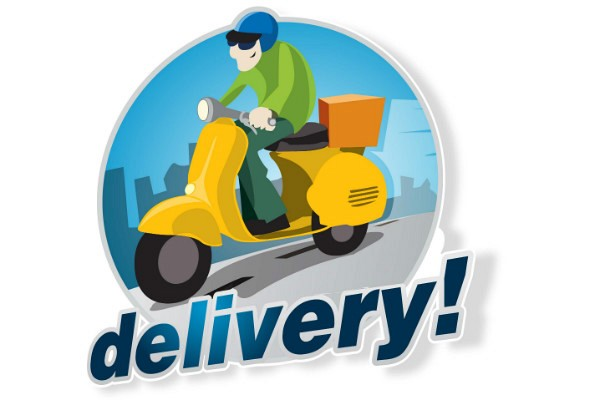 Scooter Delivery Vector Logo