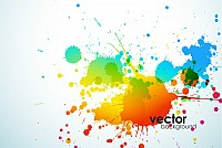 Abstract Splatter Vector Background