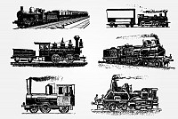 Vintage Trains Vector