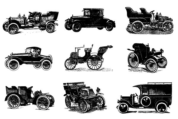 Vintage Cars Vector