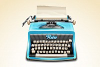 Vintage Typewriter Vector Illustration