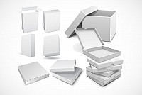 Cardboard Boxes Vector Template