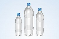 Water Bottle Vector Template
