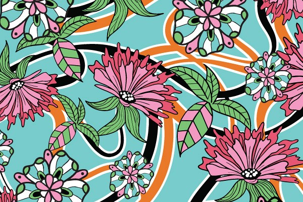 Summer Floral Wallpaper Pattern