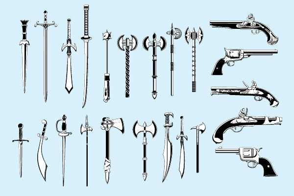 Medieval Weapons Vector Pack