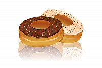 Tasty Doughnut Vector