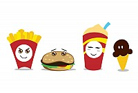 Fastfood Combo Meal Vector