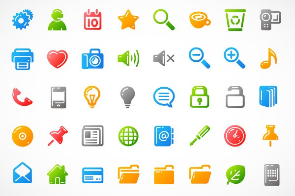 Simple UI Vector Icons