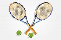Tennis Rackets Vector Graphic