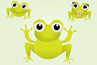 Cute Little Frogs Vector