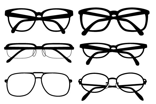 Glasses Frames Vector : Silhouette Glasses Vector TopVectors.com