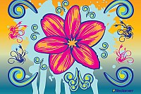 Colorful Flower Vector Illustration