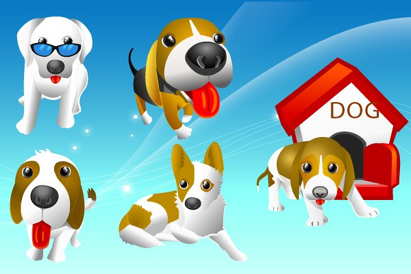 Dogs & Puppies Vector