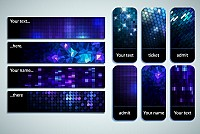 Mosaic Background Vector Banners