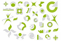 Green Abstract Logo Elements Vector