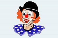 Vector Clown Clip Art