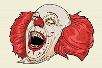 Evil Clown Vector Graphic