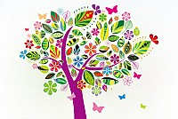 Colorful Pattern Tree Vector