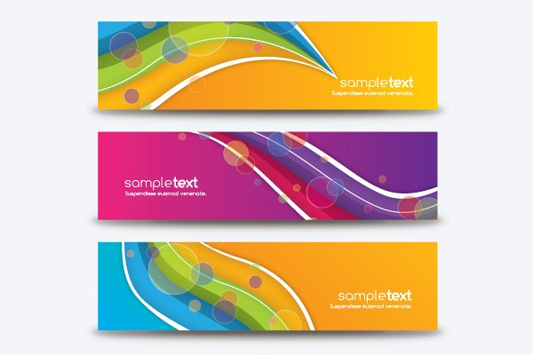 Colorful All Purpose Vector Banners