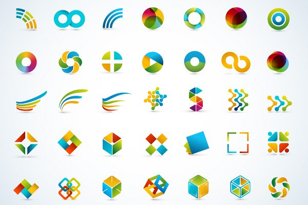 Modern Abstract Logo Objects Vector