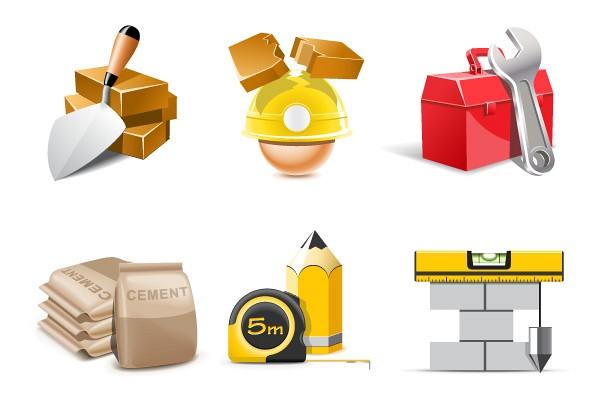 Construction & Building Vector Icons