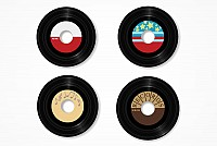 Vinyl Records Vector Graphic