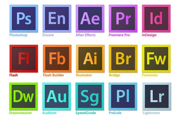 Adobe Creative Suite Vector Icons