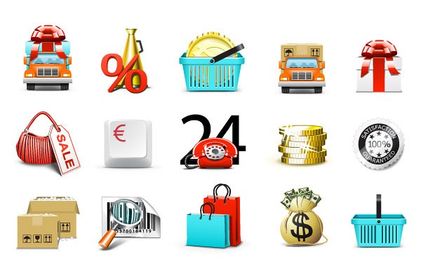 Ecommerce Shopping Vector Icons