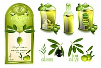 Olive Oil Vector Objects