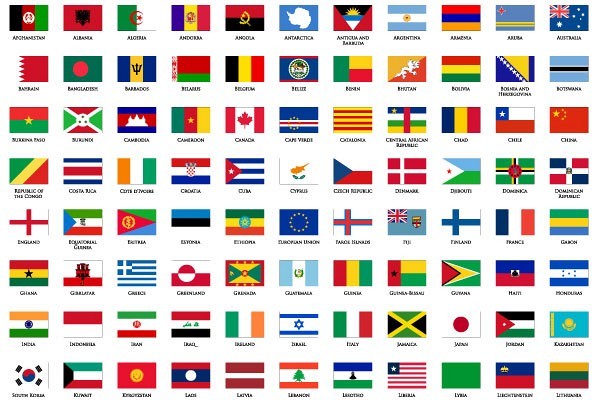 World Flags Vector Icons