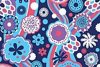 Groovy Floral Vector Pattern