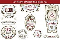 Vintage Bottle Vector Label Designs