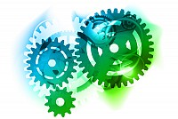 Abstract Mechanical Gears Vector