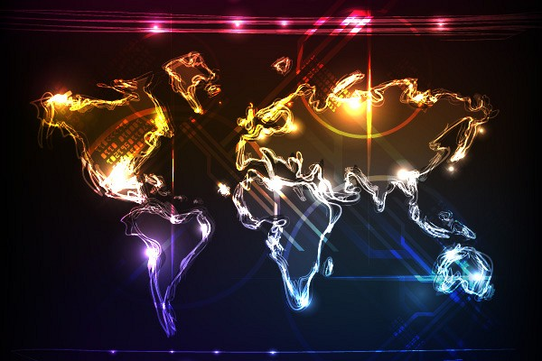 Cool World Map Vector
