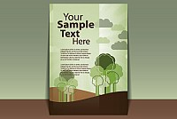 Green Cover Page Vector Template