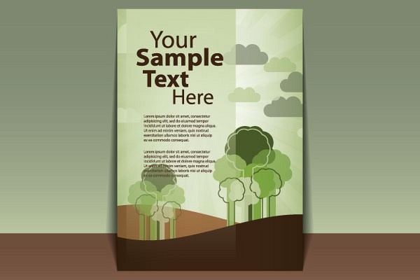 Green Cover Page Vector Template | Topvectors.Com