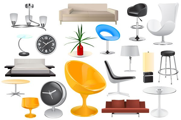 Home Furniture Vector Objects