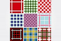 Seamless Plaid Vector Patterns