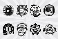 50s Retro Vector Badges