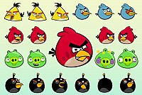 Angry Birds Vector Characters