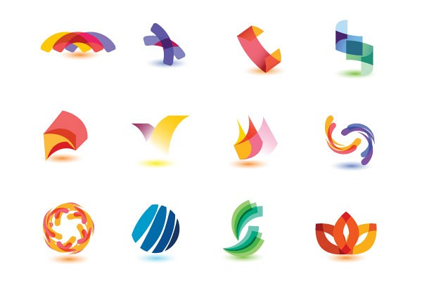 Colorful Abstract Logotypes Vector