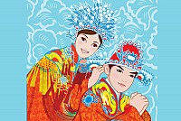 Chinese Wedding People Vector