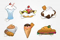 Desserts Illustration Clipart
