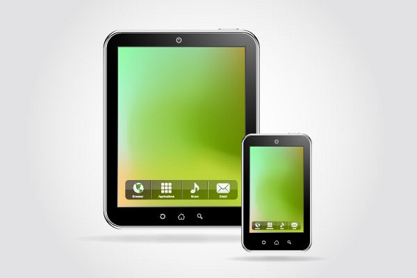 Tablet & Smartphone Vector