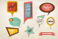 Retro Paper Tag Labels Vector