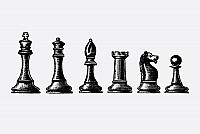 Vintage Chess Pieces Vector