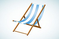 Beach Chair Vector Graphic