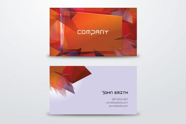 Abstract Business Cards Vector Template