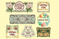 Vintage Art Nouveau Vector Labels